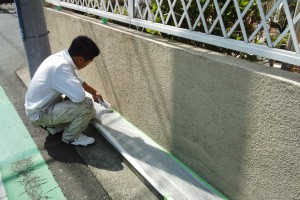 さいたま市中央区のW様邸で塀塗装