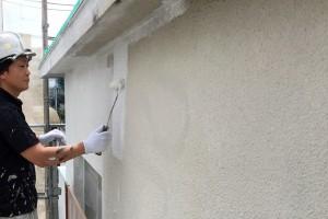さいたま市北区の賃貸マンションで外壁塗装と軒天塗装