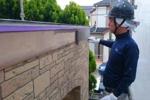 上尾市のH様邸で外壁塗装と破風塗装