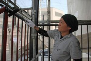 さいたま市北区の賃貸マンションで鉄骨階段の塗装