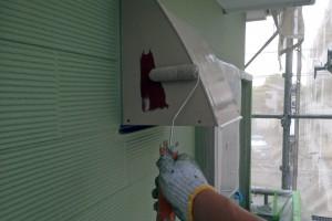 蓮田市のK様邸で外壁の補修と3階横樋塗装、鼻隠塗装が完了