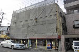 さいたま市西区、S様の複合ビルで外壁塗装が着工