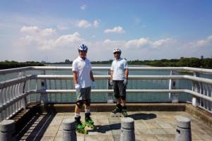さいたま市南区の彩湖から20kmのインラインスケート