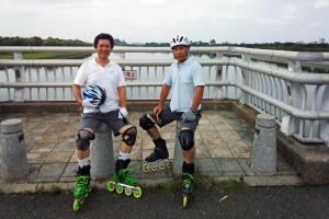 さいたま市南区の彩湖でマンデイ・インラインスケート