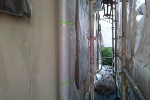 さいたま市西区のO様邸で外壁塗装のための養生