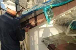 さいたま市西区のO様邸で外壁塗装と破風・鼻隠のケレン作業