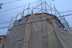 さいたま市南区のY様邸で外壁塗装に着手