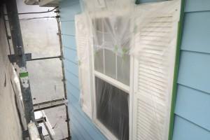 さいたま市大宮区のS様邸で外壁塗装のための養生