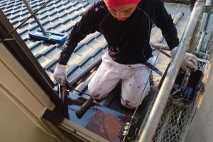 さいたま市西区のO様邸で外壁塗装の工事中