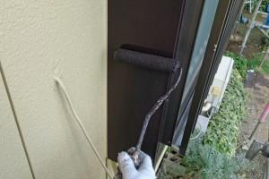 さいたま市西区のO様邸で外壁塗装の最終段階