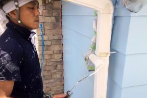 さいたま市大宮区のS様邸で外壁塗装の内モール塗装