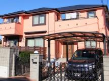 さいたま市北区で屋根塗装と外壁塗装、ベランダ防水の施工例