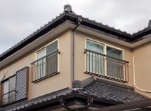さいたま市中央区で外壁塗装に伴う窓手摺取付の施工例