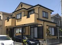 さいたま市南区で屋根塗装、外壁塗装、コーキング打替の施工例