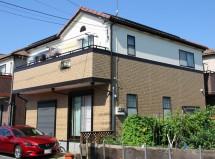 屋根塗装、外壁ツートンカラー塗装、コーキング打替 さいたま市南区で屋根塗装、外壁ツートンカラー塗装、コーキング打替の施工例