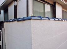 塀の瓦の欠損補修