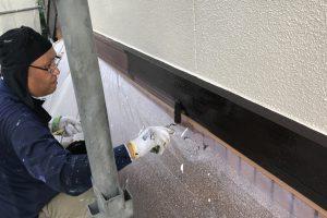 さいたま市浦和区、S様邸で外壁塗装は上塗が完了