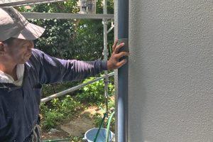 さいたま市浦和区、S様邸で雨戸の塗装とベランダ防水