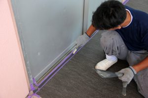 さいたま市南区、S幼稚園で塗装とコーキングが完了