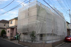 さいたま市西区、N様邸の屋根塗装と外壁塗装が着工