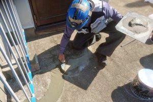 さいたま市北区E様邸で屋上防水工事がスタート