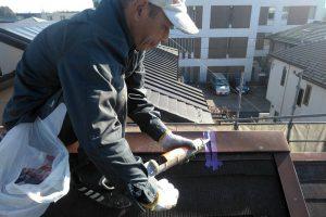 さいたま市北区のK様邸で屋根塗装と入隅コーキング