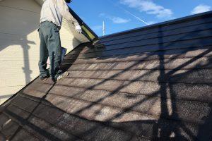 さいたま市北区のK様邸で屋根塗装とコーキング