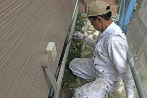 さいたま市北区のK様邸で屋根や外壁の付帯部分塗装