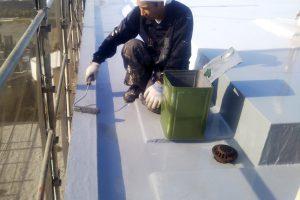 さいたま市見沼区のS様邸で屋上パラペット天端防水と外壁塗装