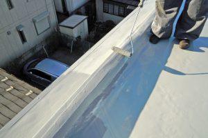 さいたま市北区、Nマンションの防水工事はトップコートが完工