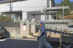 さいたま市緑区のN様邸の外壁塗装が着工