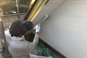 さいたま市北区のK様邸で軒天塗装