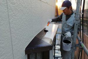さいたま市見沼区、S様邸で屋根の上塗完了