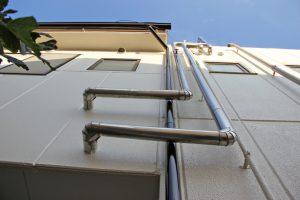 さいたま市北区E様邸で屋上防水、外壁塗装のための足場解体