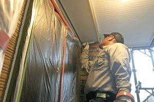 さいたま市北区のK様邸で軒天塗装が完了