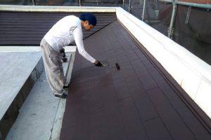 さいたま市見沼区のS様邸で屋根塗装が完了