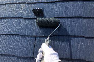 さいたま市西区、N様邸で大屋根と外壁の上塗完了