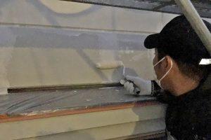 さいたま市緑区、N様邸で外壁塗装は下塗が途中
