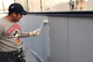 さいたま市緑区、N様邸で外壁塗装と軒天塗装