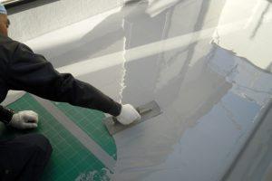 さいたま市緑区、N様邸で外壁の付帯部分の塗装とウレタン防水
