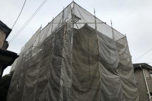 さいたま市見沼区のM様邸で屋根塗装と外壁塗装、ベランダ防水、コーキング打替工事が着工