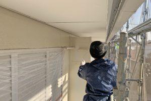 さいたま市見沼区のアパートで外壁とパーテーションの塗装