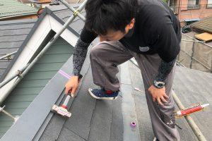 さいたま市北区、N様邸の屋根塗装と外壁塗装が着工