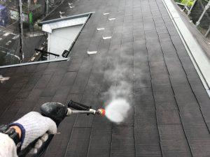 さいたま市桜区のK様邸で屋根塗装と外壁塗装が着工