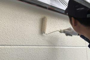 上尾市、I様邸の外壁塗装は上塗が完了