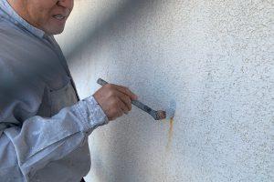 さいたま市見沼区、K様邸で外壁塗装のための下準備