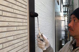 さいたま市中央区、U様邸で外壁の付帯部分の塗装と防水トップコート
