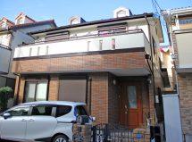 さいたま市中央区で屋根の遮熱塗装、外壁のクリア塗装の施工例
