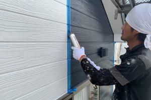 上尾市のE様邸で外壁塗装やコーキングが完了