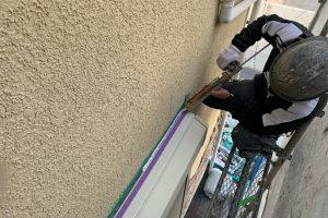 さいたま市北区、K様邸で外壁塗装の前のひび割れ補修